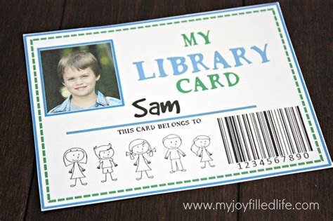 Library Id Card Template by 32 Free Pretend Play Printables My Filled