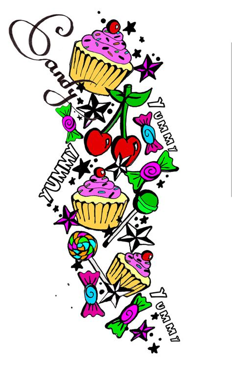 candy and cupcake tattoo designs by elljay69 on deviantart