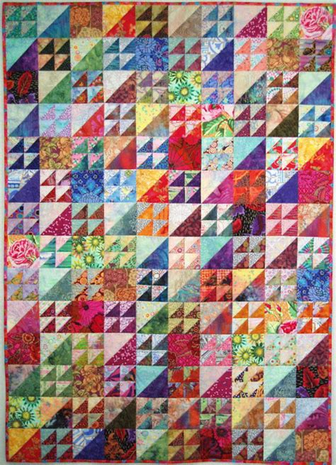 Quilting With Triangles by Exuberant Color Quilts Made With Triangles