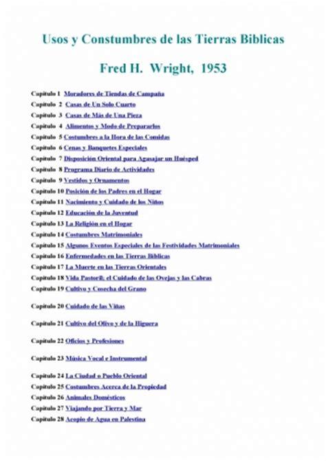 usos y costumbres de documento usos y costumbres de las tierras biblicas grupos emagister com