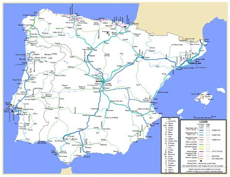 map of spain and portugal large detailed railroads map of spain and portugal spain and portugal large datailed reilroads
