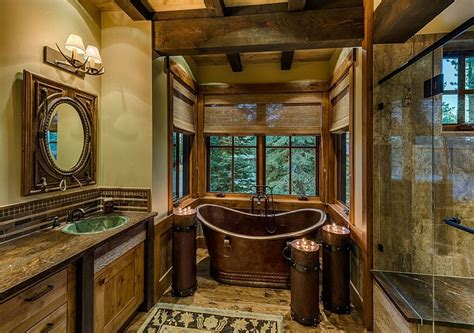 rustic cabin home decor cabin bathroom ideas