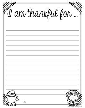 Thanksgiving Lined Paper Template