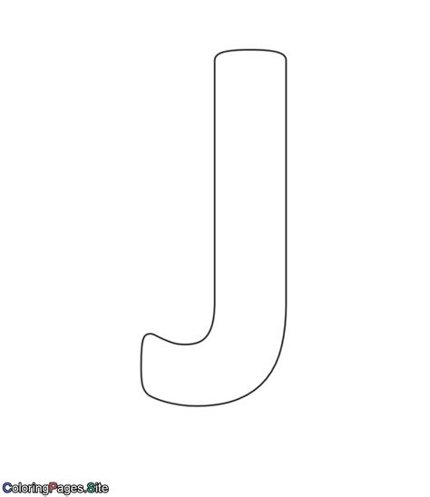 coloring pages letter j j letter alphabet coloring page
