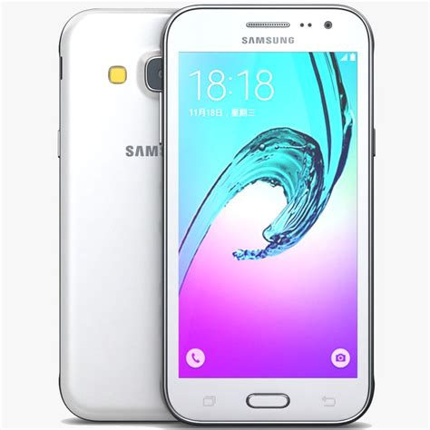 Samsung Galaxy J3 White 3d Model Samsung Galaxy J3 White