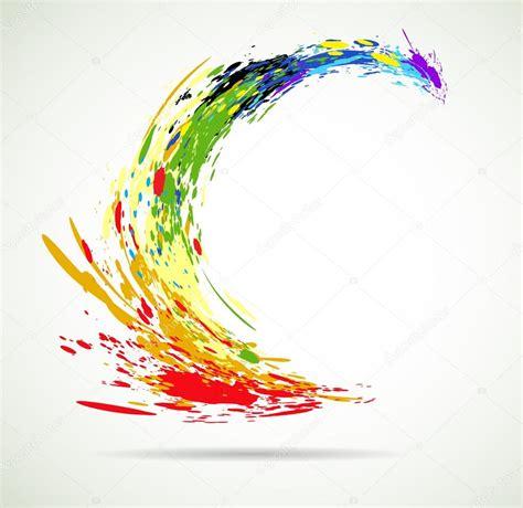 vernice di colore grunde volano spruzzi per vettore di sfondo vettoriali stock 169 vska 11430152