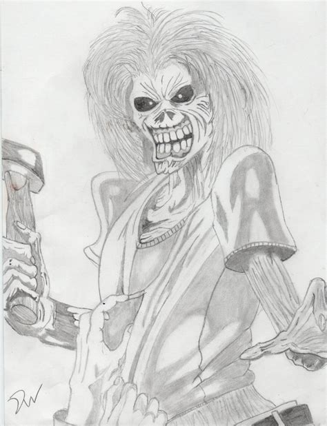sketch second album eddy iron maiden killers album by davidwoods on deviantart