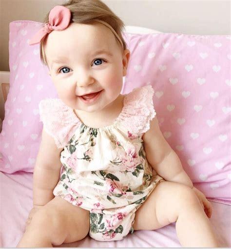 bayi perempuan rompers bayi pakaian lucu floral lengan