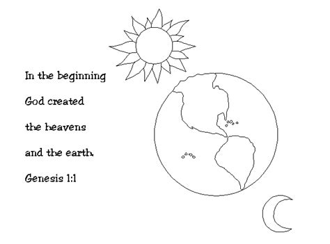 coloring pages creation earth free coloring pages of creation of god 1 day