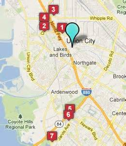 map of union city california union city ca hotels motels see all discounts