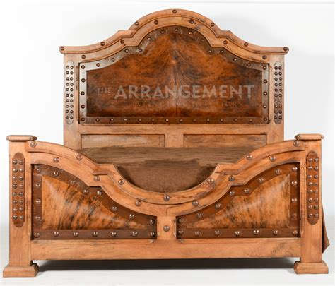 western futon western bed with its leather details cow hide