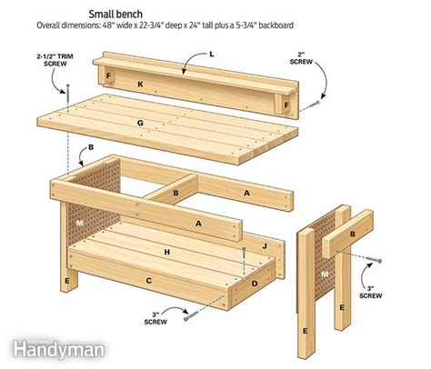 kids work bench plans mini classic diy workbench for kids the family handyman