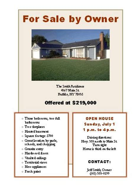 house for sale flyer sale flyer template for word flyers templates for sale by owner flyer real estate