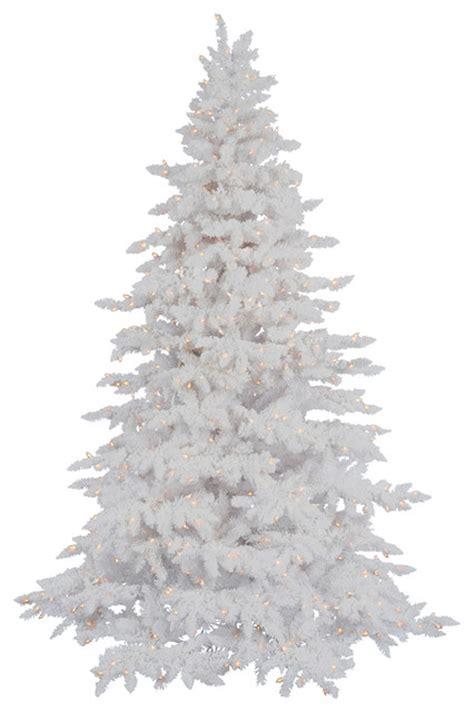 flocked white spruce modern christmas trees portland