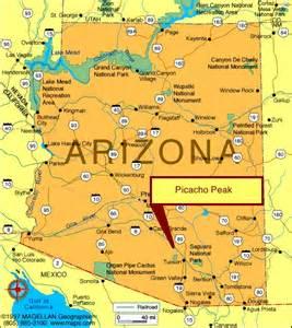 arizona landmarks map living a picacho peak
