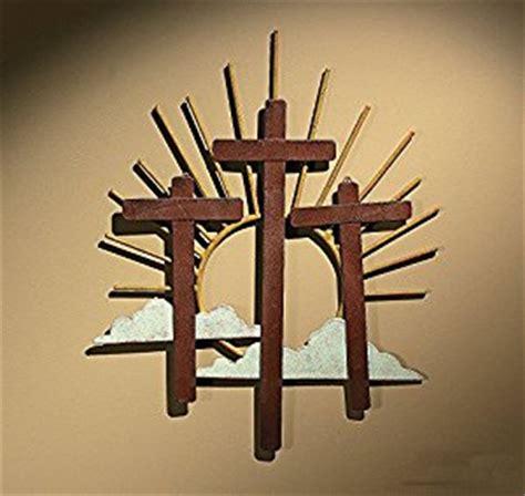 cutout metal crosses religious wall decor