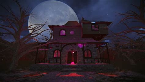 halloween witch flying   broom   haunted house
