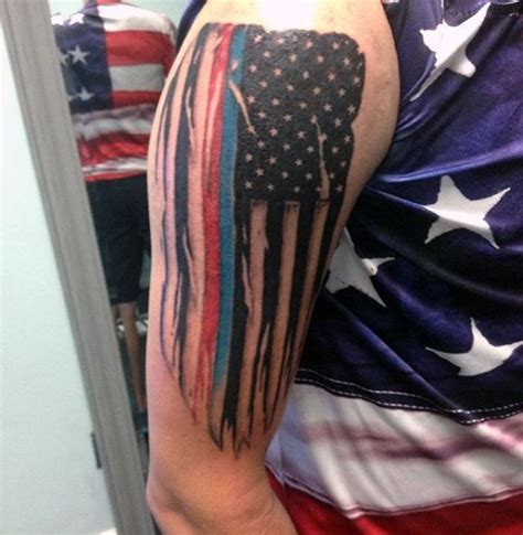 thin red line tattoo 50 tattoos for enforcement officer design