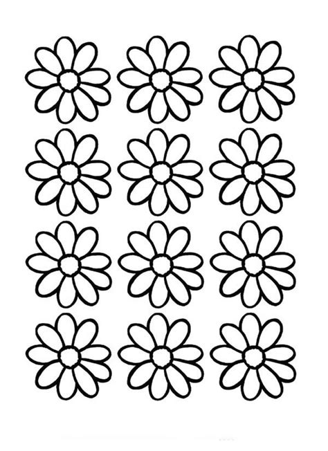printable daisies flowers daisy flower outline cliparts co