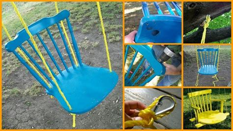 diy chair tree swing 22 diy garden swings you can bring to almost