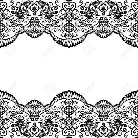 lace pattern color template for wedding invitation or greeting card with