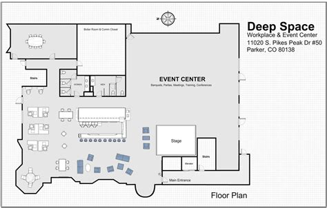 event center floor plans event center deep space gallery event center