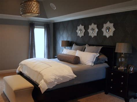 houzz bedroom glam gray sparkle master bedroom