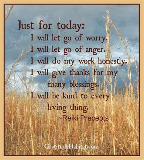 today reiki precepts gift gratitude