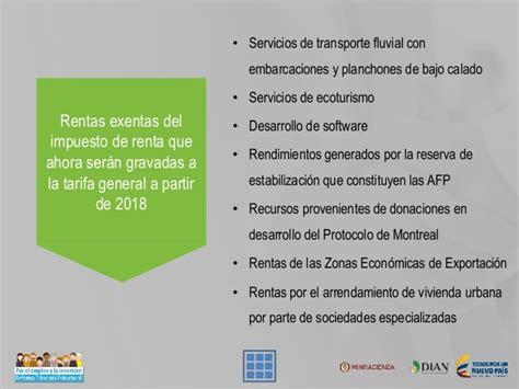 tarifa impuesto de renta 2016 personas juridicas colombia presentaci 243 n final 2016 10 19 reforma tributaria