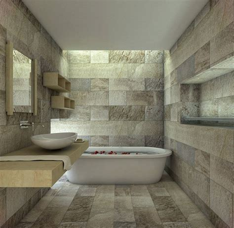 Bathroom Floor Tile Ideas by Salle Bain Carrelage Mural Sol Pierre Naturelle