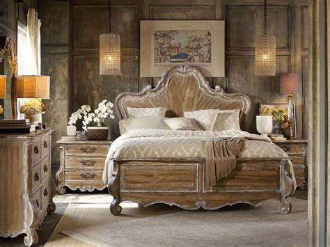 brown wood bedroom furniture chatelet brown wood panel bedroom set from hooker