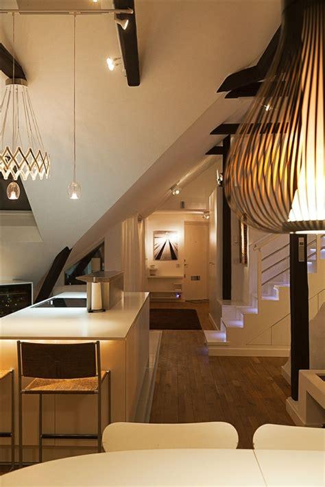 beleuchtung loft schwedisches loft apartment atemberaubende aussicht auf