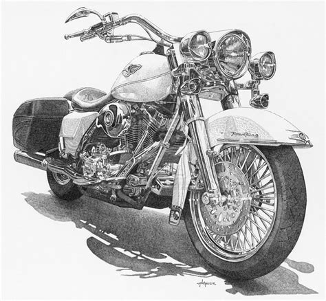 Harley Davidson Drawings by Harley Davidson Road King By Ajgrier On Deviantart