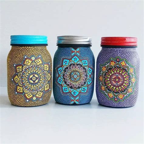 Painting Jars by Best 25 Painted Jars Ideas On Painted