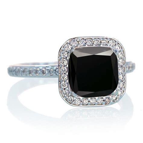 1 5 carat cushion cut classic black and