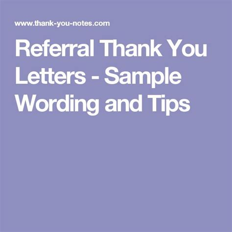 thank you letter business referral 17 best ideas about referral letter on picture