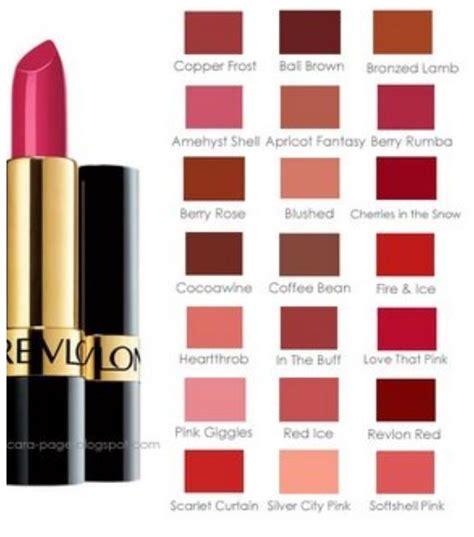 lipstick color chart revlon lipstick color chart revlon lustrous