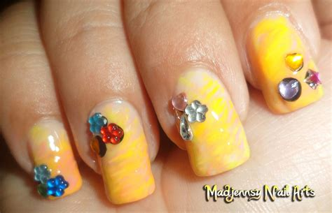 easy nail art neon easy naturally neon nails nail art gallery step by step