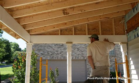 How To Build An Awning Over A Deck Building A Porch Roof Porch Roof Framing