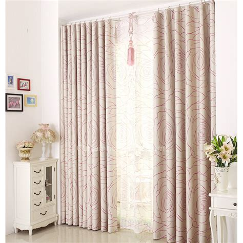 floral blackout curtains pink rose floral pattern insulated polyester blackout curtains