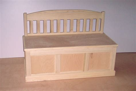 toy box bench plans wooden toy chest unfinished