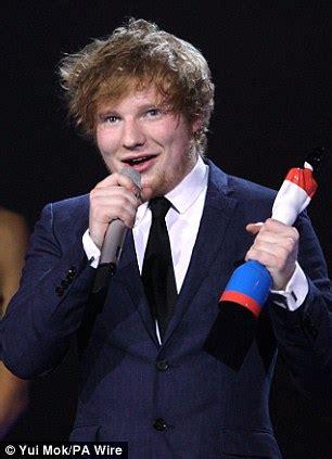 british singer orange hair male brit awards 2012 winners ed sheeran scoops best male