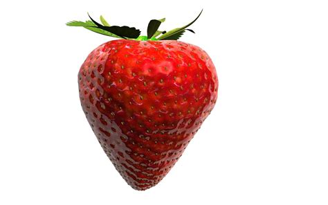 3d 3 Strawberry strawberry on white background 3d illustration for your desing 3d model rigged obj fbx c4d stl