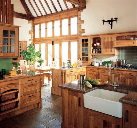 Country Kitchen Designs Layouts | country style kitchen ideas with compact layouts roohome