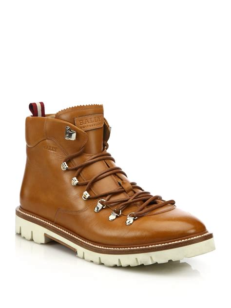 leather hiking boots s bally j cole for leather hiking boots in brown for lyst