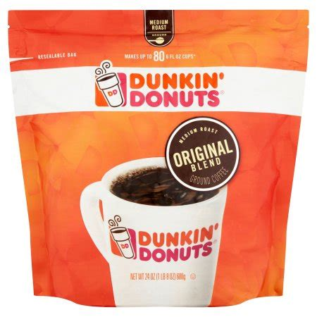 Coffee Dunkin Donuts dunkin donuts original blend medium roast ground coffee 24 oz walmart