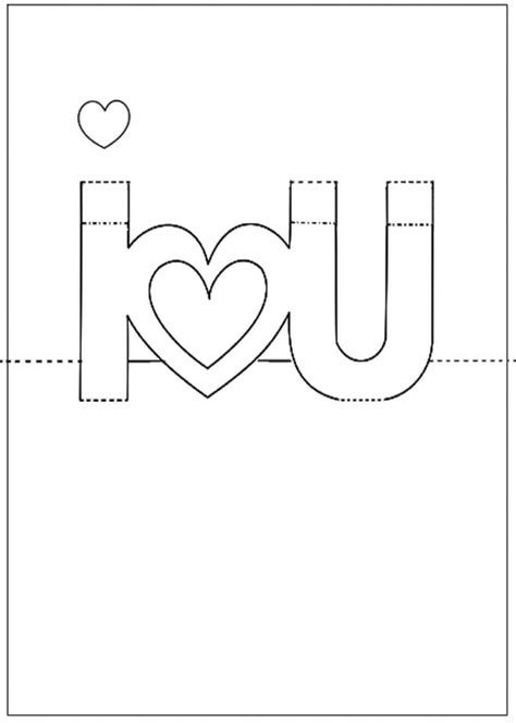 Printable Pop Up Cards Pop Up I Love You Card Photo Pop Templates