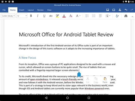 microsoft office for android tablet tecnica prezzi microsoft office on a tablet