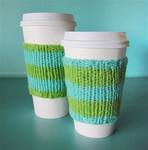 knitted coffee cup cozy pattern the power of knit and purl stitches free patterns