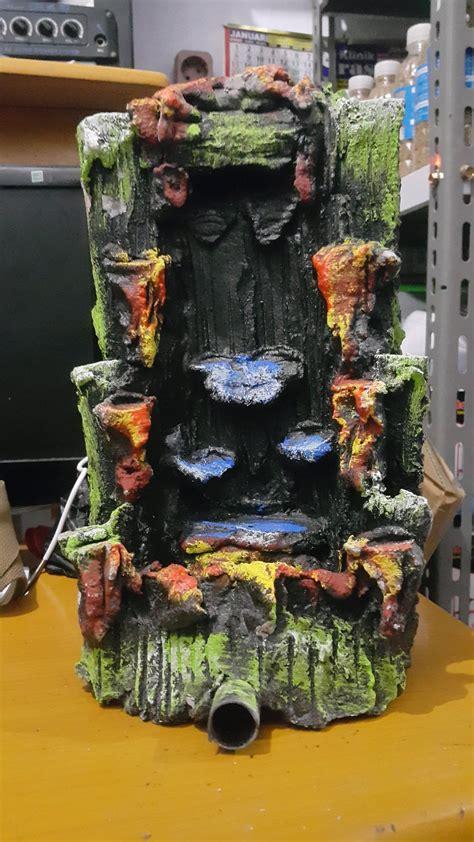 jual miniatur air terjun akuarium batu relief akuarium